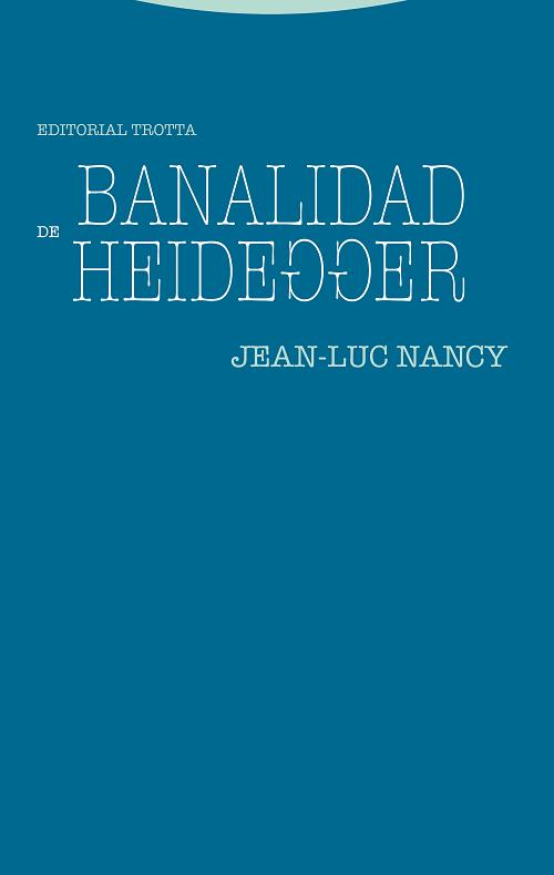 Libro: Banalidad de Heidegger