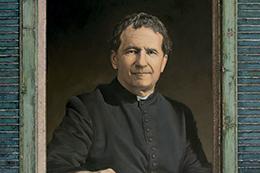 Don Bosco. Óleo sobre tela de David Pastor Corbí