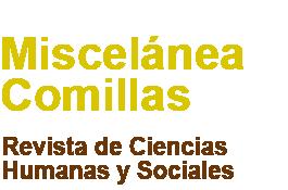Revista Miscelánea Comillas