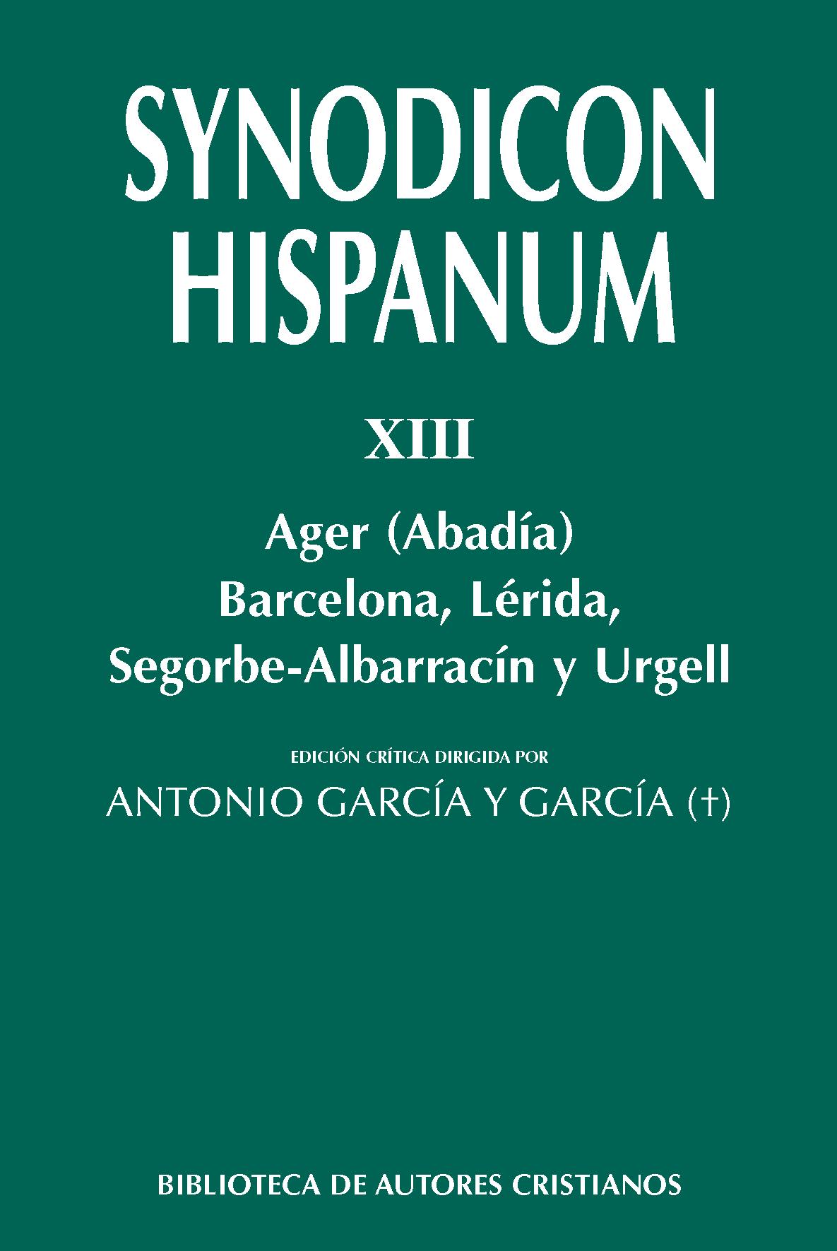 Libro. Synodicum hispanum, XIII